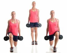 Lunges For Reduce Hips Fat and Belly Fat