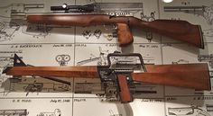 "Gyrojet carbines fired small rockets instead of bullets so no recoil.  Featured in Bond movie, ""You Only Live Twice"""