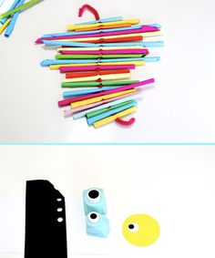 Paper Straw Seahorse – Make Film Play Wooden Craft Sticks, Wooden Crafts, Craft Stick Crafts, Crafts For Kids, Paper Crafts, Straw Art For Kids, Seahorse Crafts, Straw Weaving, Paper Glue
