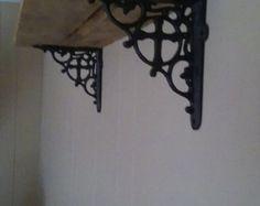 The ORIGINAL Rustic Pallet Towel Rack Shelf by ReformedByLeviathan