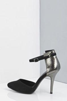 Mia Metallic Snake Two Part Heels at boohoo.com