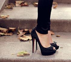 #black #heels #shoes