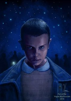 """Stranger Things"" fan art. This is 11, or Eleven. If you haven't seen it yet, go…"