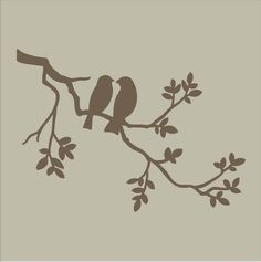 bird on a branch silhouette - Google Search