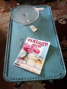 chalk painted coffee table Painted Coffee Tables, Cottage Style, Chalk Paint, Painted Furniture, Shabby, Painting, Chalet Style, Painting Art, Paintings
