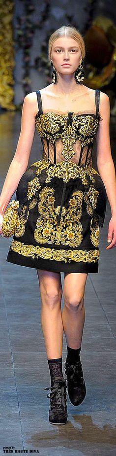 Coleção Dolce & Gabbana 2012 - influencias do Barroco