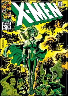 X-Men (Marvel, Jim Steranko cover and art. Second appearance of Polaris. First issue to feature the new X-Men cover logo, created by Jim Steranko. Marvel Comics, Marvel Comic Books, Comic Books Art, Marvel Heroes, Marvel Art, Comic Book Artists, Comic Book Characters, Marvel Characters, Comic Character
