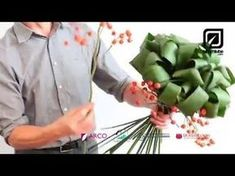 Design Tip: Enhance Arrangement Using Trimmed Aspidistra Leaf - YouTube
