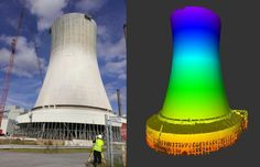Laser Scan of a USA cooling tower being rebuilt