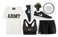 """""""Happy Veterans Day!!"""" by supersquirrelgirlq ❤ liked on Polyvore featuring Under Armour, NIKE and NLST"""