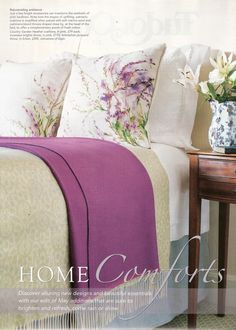 Lovely Floral cushions from @Johnstons of Elgin featured in English Home #May issue #2013