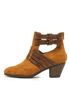 LEATHER ACCENT SUEDE BOOTS- Camel
