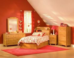 Bedroom. Attractive Attic Girls Bedroom Ideas For Small Rooms With Cute Decorating And Contemporary Bedroom Furniture Sets Plus Red Rod Pocket Bedroom Curtain Panel As Well As Decorating Ideas For A Girls Room Plus Decorating Ideas For Girls Rooms. Cute Adorable Bedroom Ideas For Girls With Newest Design