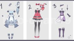 Auction CLOSED Outfit Batch 14 by https://tinyhito.deviantart.com on @DeviantArt