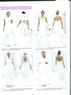 Elle - settembre 2013 >> abito a chiocchiola, volant asimmetrico, tris di gonne ed effetto neve: gli abiti di #ElisabettaPolignano