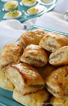 A Lovely Strategy on Ways to Make Puff Pastry Sausage Rolls Really Conveniently. This Is The Ultimate Guide to Puff Pastry Sausage Rolls Recipe That You Could. Samosas, Empanadas, Sausage Rolls Puff Pastry, Puff Pastry Recipes, Sausage Biscuits, Puff Pastries, Quiche, Best Sausage, Savory Pastry