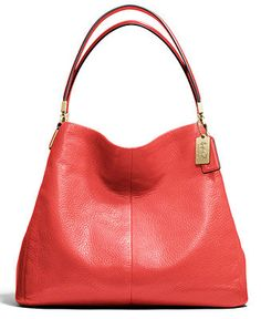 COACH MADISON SMALL PHOEBE SHOULDER BAG IN LEATHER Handbags   Accessories -  COACH - Macy s f74f02799e6b3