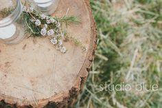 simple, rustic wedding ceremony decor