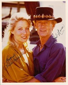"""Paul Hogan & Linda Kozlowski10x8 signed photograph from """" Crocodile Dundee """" for GBP45.00 #Collectables #Autographs #Original #photograph  Like the Paul Hogan & Linda Kozlowski10x8 signed photograph from """" Crocodile Dundee """"? Get it at GBP45.00!"""
