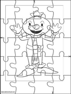 Printable jigsaw puzzles to cut out for kids Bob the Builder 11 Coloring Pages