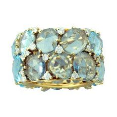 Brand new Pomellato blue topaz and diamond wide band ring from Lulu collection… Blue Topaz Diamond, Gold Diamond Rings, Diamond Jewelry, Jewelry Rings, Fine Jewelry, Gold Jewelry, Aquamarine Rings, Jewellery, Jewelry Box