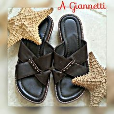 FINAL PRICE A GIANNETTI made in Italy sandals GORGEOUS made in Italy A GIANNETTI all leather in pebble grain. These beautys are in excellent condition. Rich coffee color with sand stitching. Feels like angel wings on, very comfortable  SAVE 10% MORE NOW BY BUNDLING  All of my items come from extremely clean non-smoking non-pet home A Giannetti Shoes Sandals