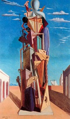 The Great Machine by Giorgio de Chirico Size: cm Medium: oil, canvas Max Ernst, Harlem Renaissance, Italian Painters, Italian Artist, Norman Rockwell, Mondrian, Oil Canvas, Art Ancien, Rene Magritte
