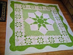 Lime Squeeze quilted by sewfarsewgood - before quilting