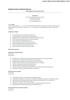 Examples Of Nurse Resumes Student RESUME