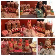 We created a sweet & swanky chic candy buffet - www.itsallaboutyoubirthdays.com