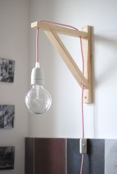 This is how we need to install our giant bulbs. Pink Lamp, Light My Fire, Pottery Designs, Light Project, Diy Projects To Try, Living Room Interior, Boy Room, Home Improvement, Sweet Home