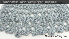 Example of the Double Beaded Edge Stitch