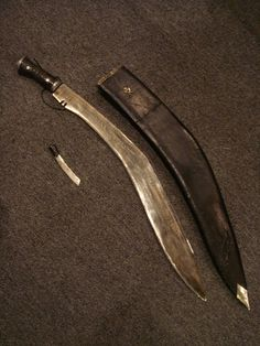 Antique Gurkha Kukri Knife 29 inches long in by GothicRoseAntiques, $225.00