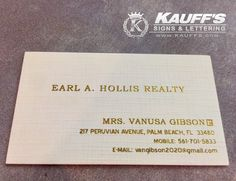 Business cards are your company's first impression. #Standout with these beautiful thick linen cards with a beautiful foil finish. #KauffsPrinting #BusinessCards #Linen #Foil #Gold #FirstImpressions #CallToday #KauffsSocialMedia #SteveKauff