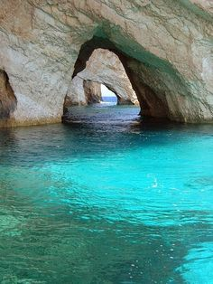 Crystal clear waters of Zante island Greece.