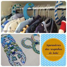 Organize sem Frescuras | Rafaela Oliveira » Arquivos » Como fazer separadores de roupas do bebê (para imprimir)