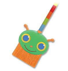 Happy Giddy Broom by Melissa  Doug - $8.95. Little messes will never bug you again, when you have a Happy Giddy Broom on hand to sweep up with a smile! Sturdy bristles, an easy-clean handle and a brightly colored wooden shaft make clean up a fun activity!