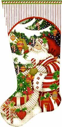 Needlepoint Christmas stocking by Melissa Shirley | Finished ...