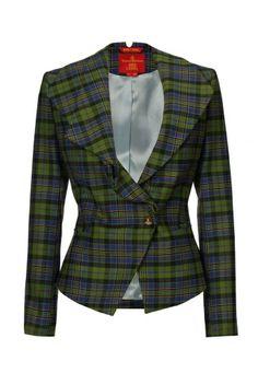 Gorgeous Green/Black Tartan Jacket by Vivienne Westwood: half price right now in UK. Tartan Fashion, Fashion Outfits, Womens Fashion, African Design, Clothing Patterns, Clothing Ideas, Tartan Plaid, Tweed Jacket, Vivienne Westwood
