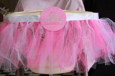 Peighton's princess high chair tutu! By mud pies & sprinkles