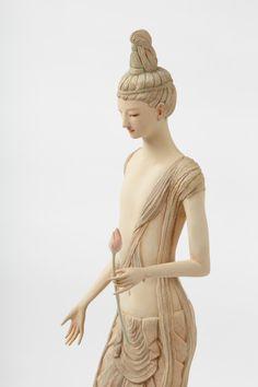 土屋仁応 / Yoshimasa Tsuchiya Martial, Korean Art, Guanyin, Buddhist Art, World's Most Beautiful, Sculpture Art, Sculpting, Inspiration, Angel Statues