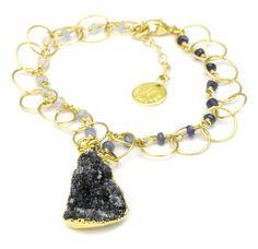Blithe Black Druzy Gold Bracelet #ninanguyendesigns #rickterryjewelry #knoxville