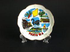 Vintage Perth Souvenir Plate Gold Trim  Western by FunkyKoala