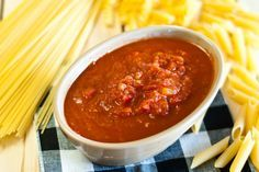 Tomato sauce for serving with meat or as a pasta sauce. (Visit site for more recipes. FODMAP.)