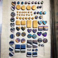 Updates from StudioPickles on Etsy Earrings Handmade, Handmade Jewelry, Jewelry Crafts, Jewelry Ideas, Nickel Free Earrings, Precious Metal Clay, Kintsugi, Diy Clay, Clay Creations