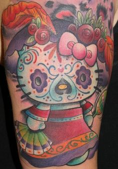 Hello Kitty Skull Tattoo