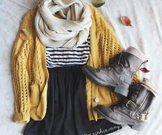 Cute- casual fall look for young adults.