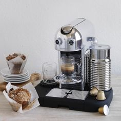 Design and a great cup of coffee in one powerful machine! Yes, a little steep in price, but a beautiful eye catcher.