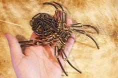 Steampunk Sculpture - Brass Spider