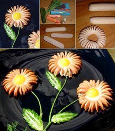 DIY Hot Dog Flower